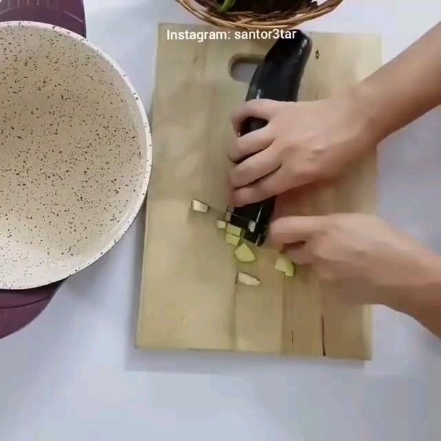 فیلم آشپزی آموزش ترشی بادمجان فوری