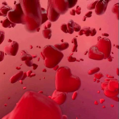 عکس متحرک قلب های عاشقانه