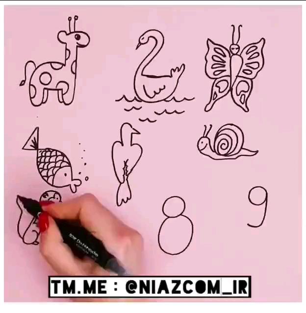 نقاشی حیوانات با اعداد | اینطوری نقاشی کشیدن رو برای بچه ها آسون و لذت بخش کنید