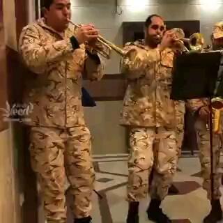 فیلم خنده دار رقصیدن سربازان گروه موزیک پادگان