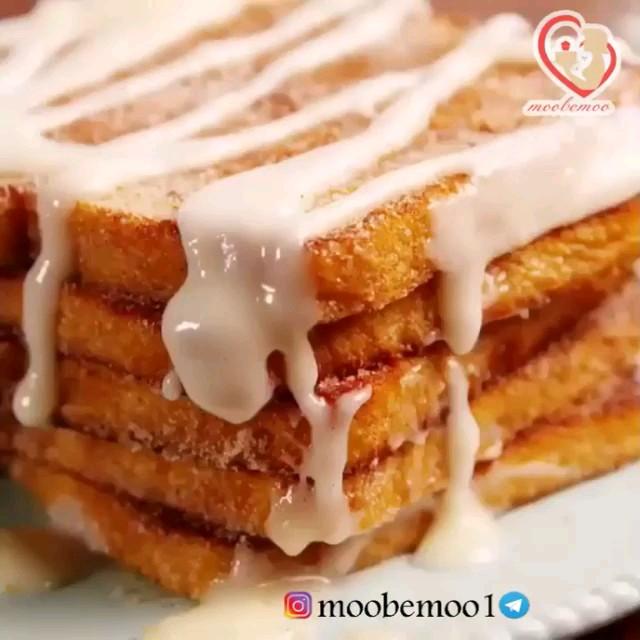 کلیپ آشپزی آموزش فرنچ تست یک صبحانه جدید و خوشمزه
