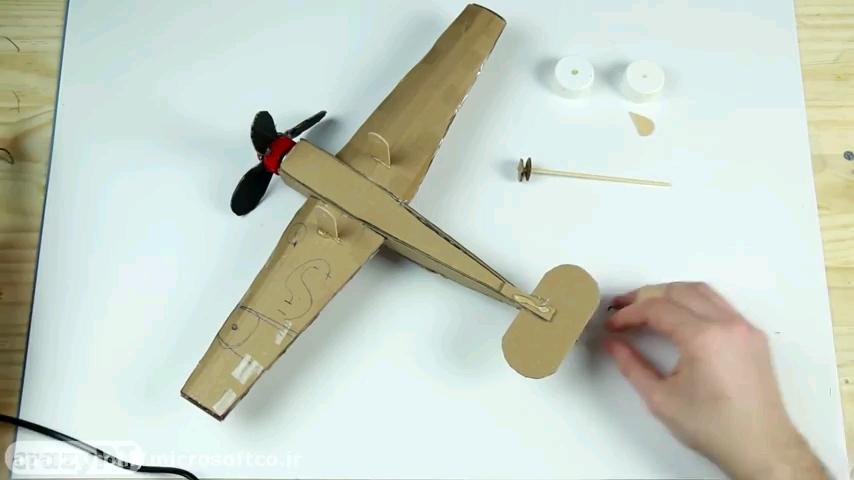 آموزش ساخت هواپیما با کارتن