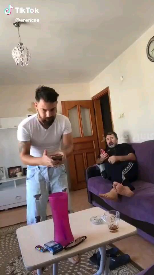 فقط باباش :)) | کلیپ خنده دار شوخی اینستاگرامی