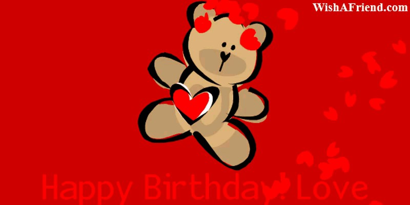 happy birthday bear gif | happy birthday love gif