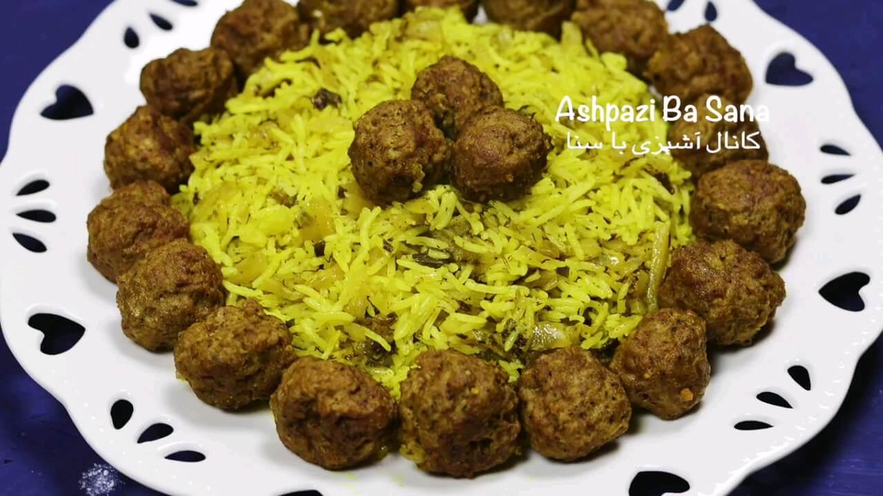 طرز پخت کلم پلو شیرازی