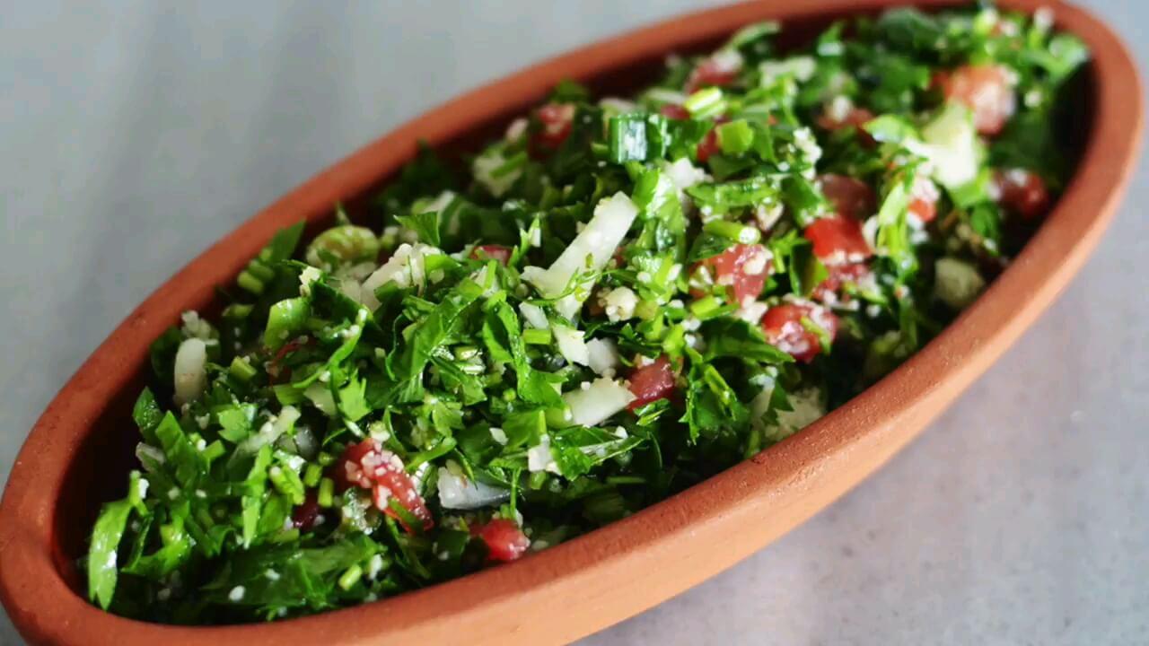 طرز تهیه سالاد سبزیجات متفاوت | سالاد تبوله لبنانی