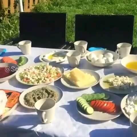 تصویر متحرک صبحانه و طبیعت