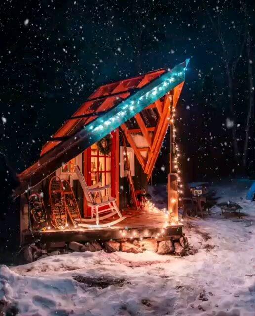 تصویر متحرک شب بخیر زمستانی