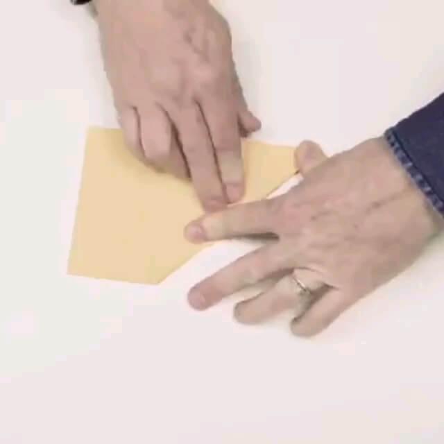 گیف آموزش ساخت هواپیما کاغذی