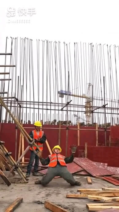 حرکات موزون و رقص جالب مهندس ساختمان