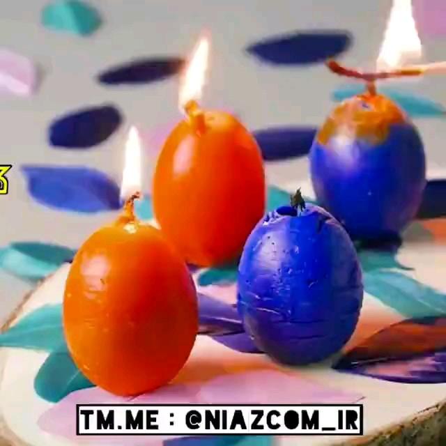 ترفند درست کردن شمع های تخم مرغی مخصوص سفره هفت سین