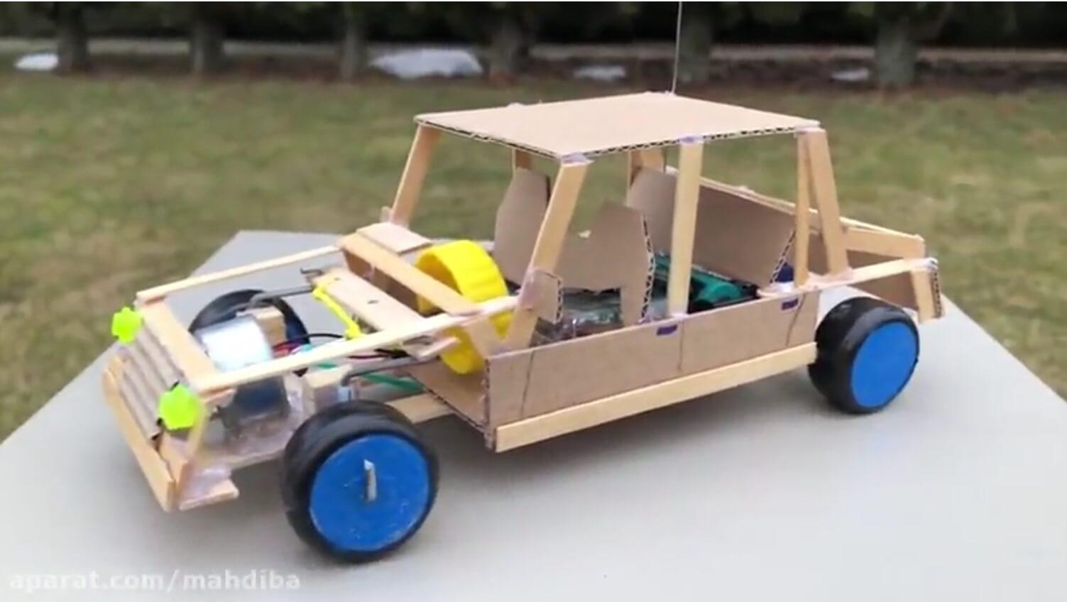 آموزش ساخت ماشین کنترلی اسباب بازی ساده و 100% عملی