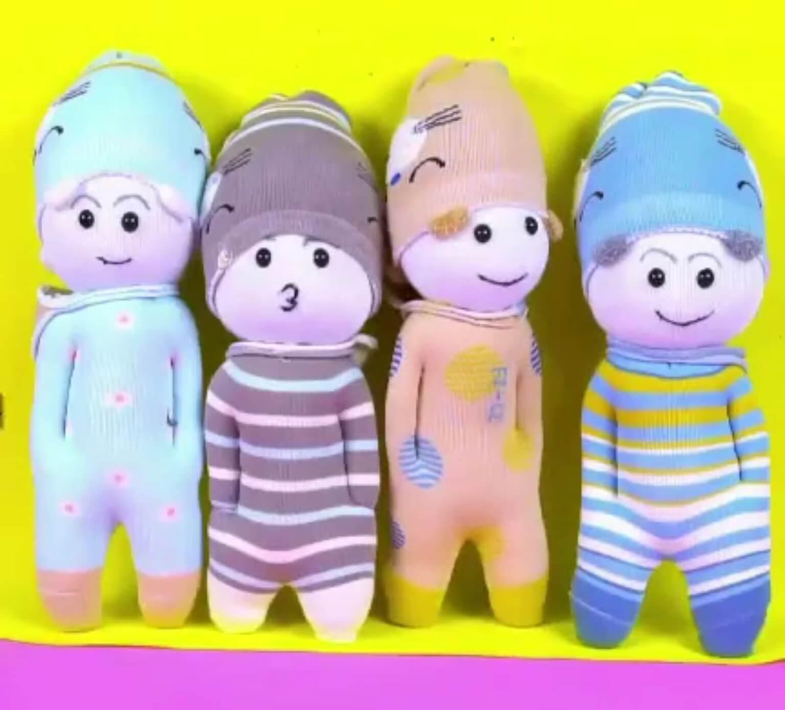 آموزش درست کردن عروسک های خوشگل با جورابهای کهنه برای کودکان