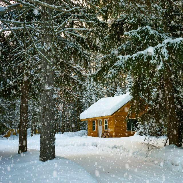 عکس متحرک بارش برف رویایی