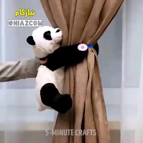 روش درست کردن گیره پرده با عروسک های بلااستفاده