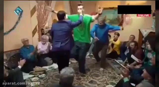 رقصیدن خنده دار ارسطو و رحمت و بهتاش (سریال پایتخت 5)