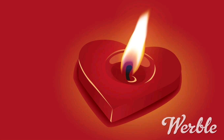 عکس متحرک شمع عاشقانه