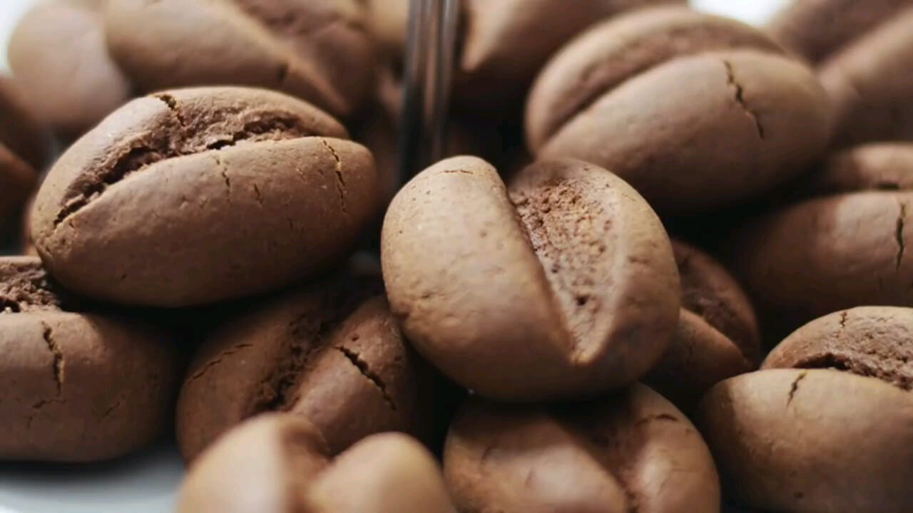 فیلم طرز تهیه شیرینی دانه قهوه | ویدیو آشپزی