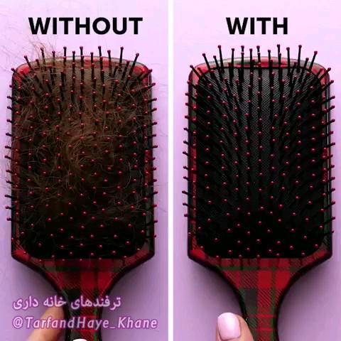 ترفند عالی برای گیر نکردن موها در شانه