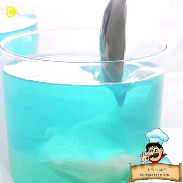 کلیپ آشپزی طرز تهیه ژله آسمون آبی
