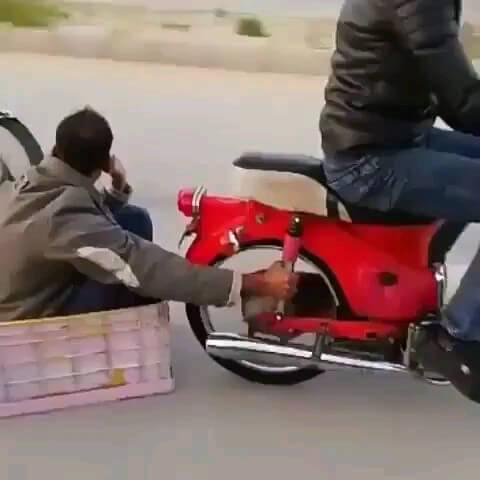 از تفریحات سالم ایرانی ها ..! گیف باحال