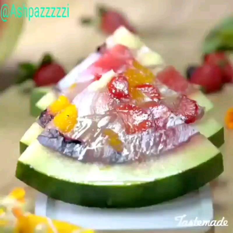 طرز تهیه ژله میوه با توضیحات کامل