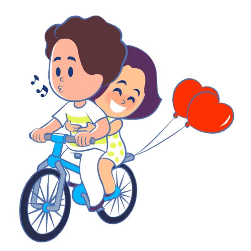 استیکر عاشقانه زناشویی کارتونی