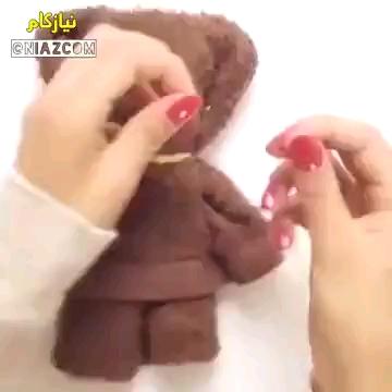 طرز درست کردن خرس ولنتاین