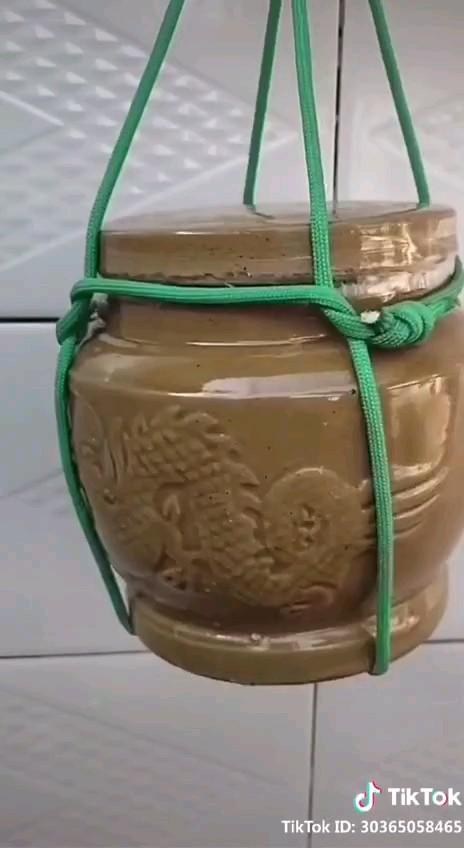 آموزش گره زدن طناب برای نگه داشتن بطری