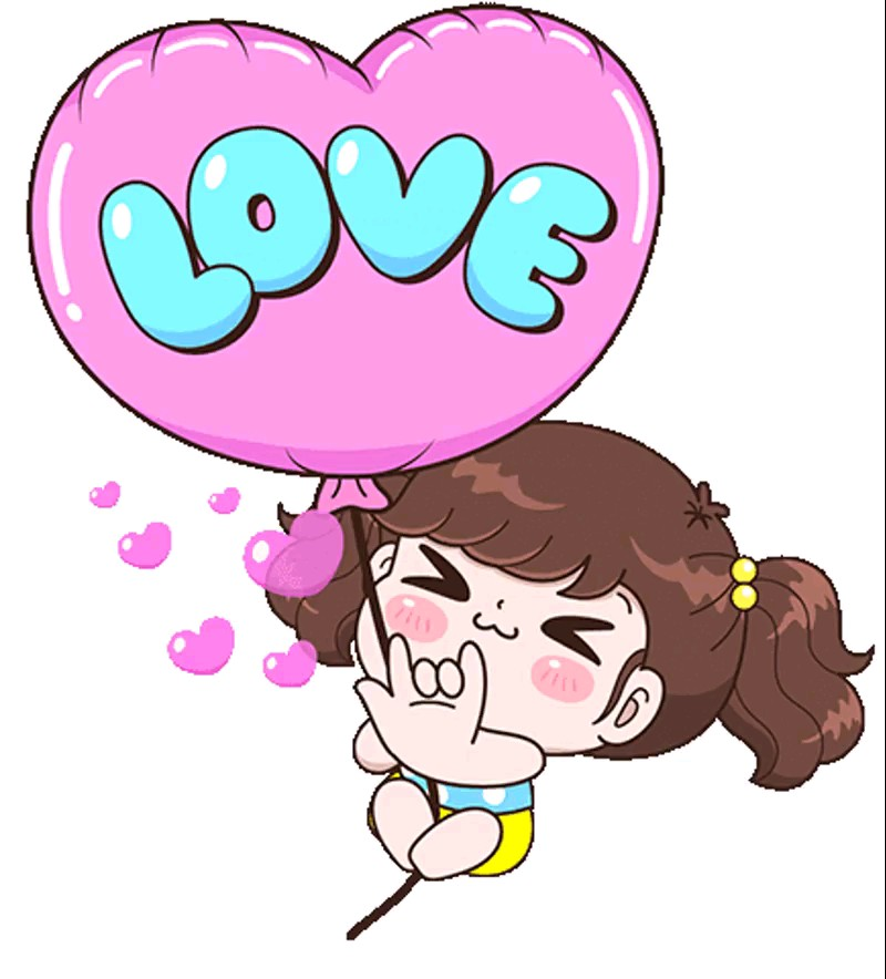 Love sticker girl