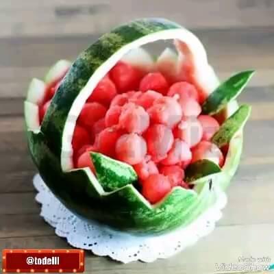 تصاویر تزئین های مختلف و زیبا هندوانه برای شب یلدا