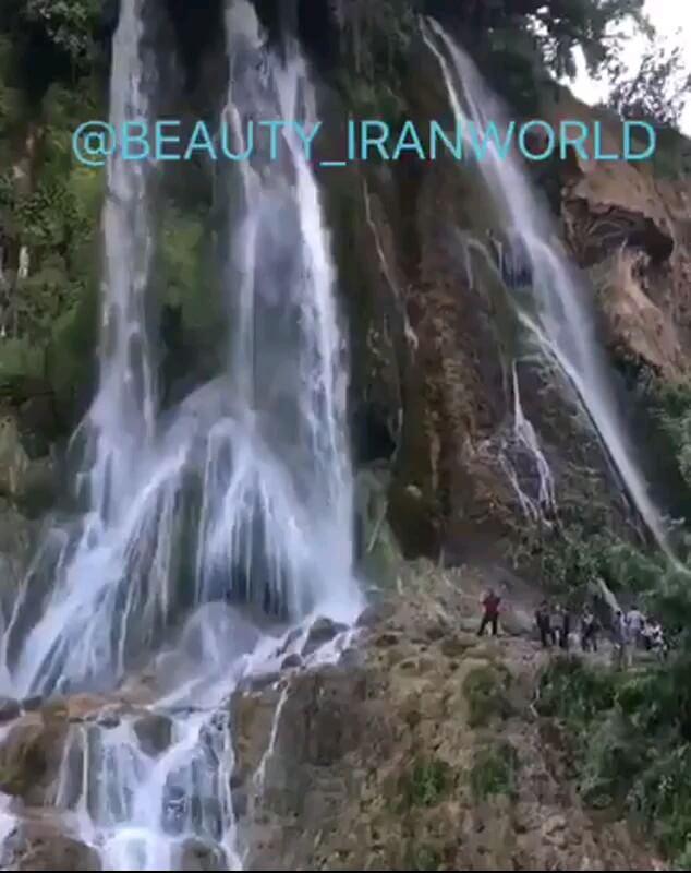 کلیپ طبیعت گردی آبشار بیشه خرم آباد لرستان