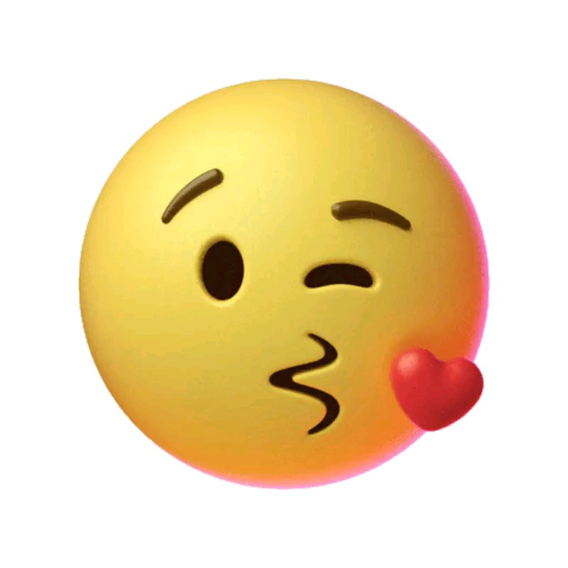 استیکر بوسه | ایموجی بوسه | شکلک بوسه