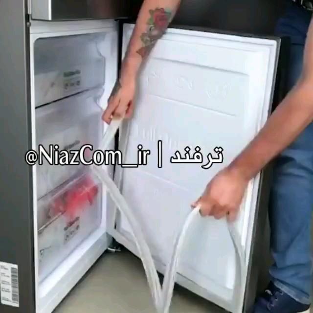 ترفند راحت تعمیر لاستیک درب یخچال