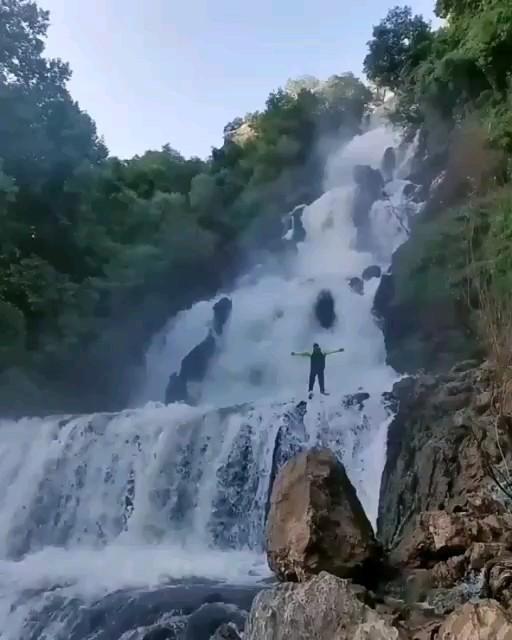 فیلم آبشار لندی در چهارمحال و بختیاری زیبا