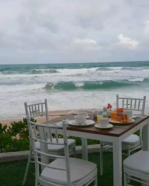 دانلود گیف متحرک صبحانه ساحلی | صبح بخیر