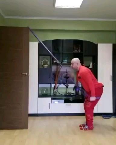 خنده دار چالش ورزش در خانه :))