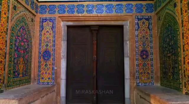 فیلم مسجد و مدرسه آقابزرگ کاشان