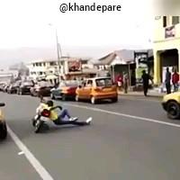 با دیدن این فیلم دیگه کسی ادعای موتورسواری نکنه !