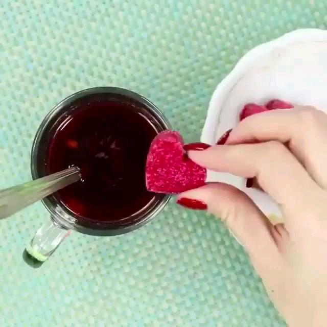ایده درست کردن قند و چای لیپتون قلبی مخصوص زوج های عاشق