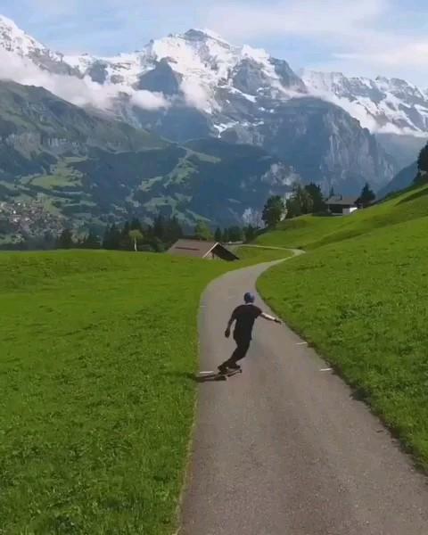 گیف طبیعت زیبا سوئیس