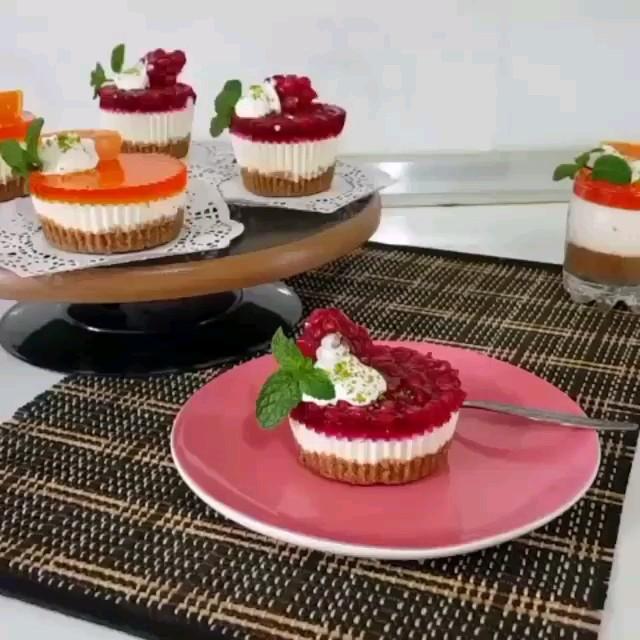 فیلم آشپزی آموزش چیز کیک تک نفره | آشپزی