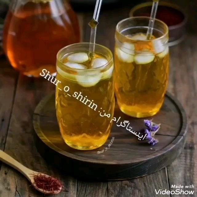 طرز تهیه شربت گلاب و زعفران
