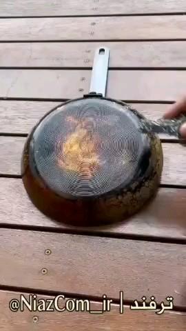 ترفند تمیز کردن سوختگی زیر قابلمه و ماهیتابه