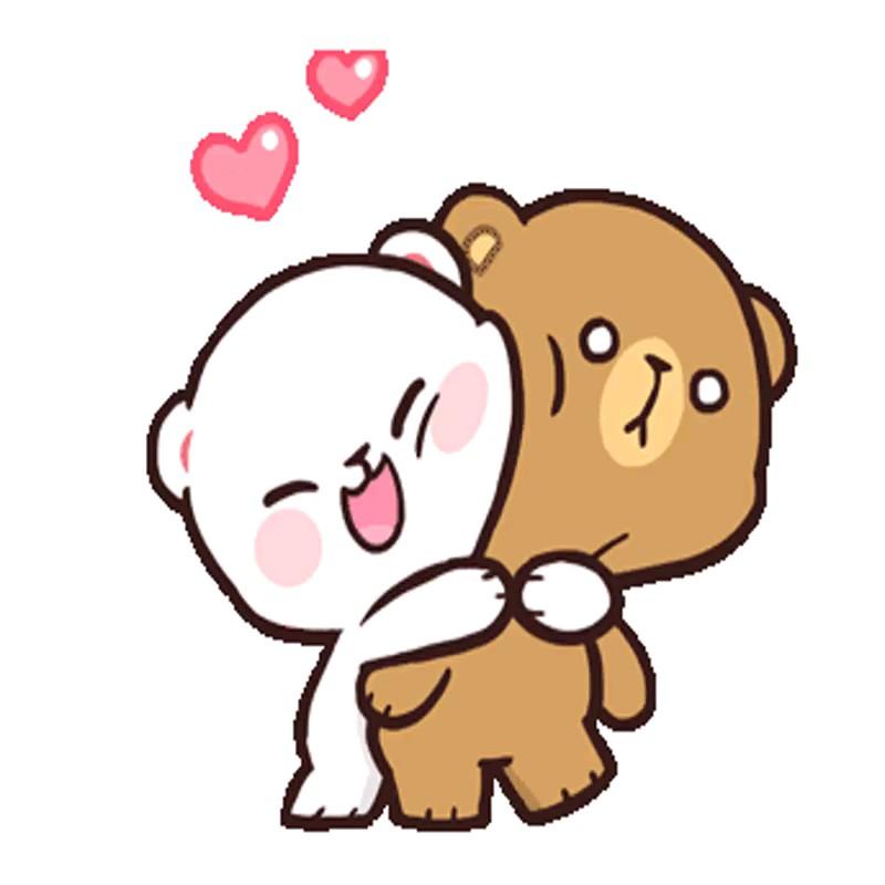 Gif hug | بغل کردن عاشقانه