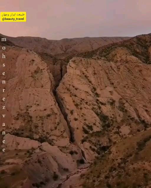 تنگه زیبای برش در دل کوههای روستای خورگوی بندرعباس