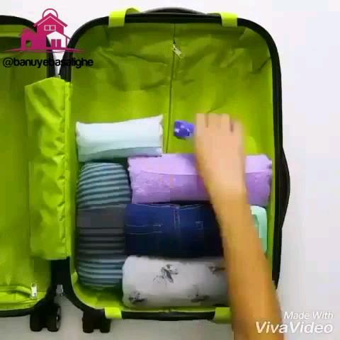 چیدمان صحیح و تاکردن اصولی لباس در چمدان برای مسافرت