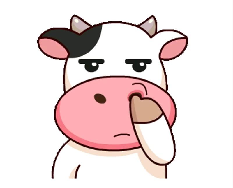 استیکر گاو خنده دار