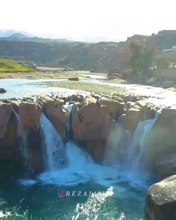 فیلم آبشار آفرینه خرم آباد در لرستان
