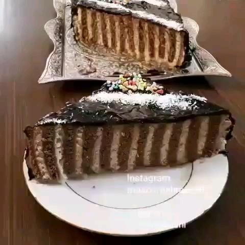 فیلم طرز تهیه کیک یخچالی
